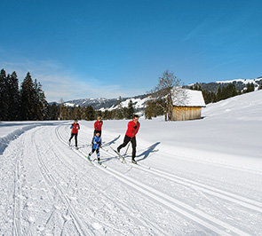 Cross-country skiing in the Bregenzerwald