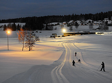 Night-time skiing